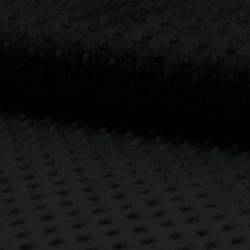 Plyš MINKY - puntíky černé, gramáž 300 g, šíře 150 cm, 10 cm