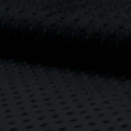 Látka, plyš MINKY - puntíky černé