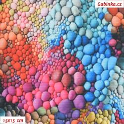 Kočárkovina Premium, Kamínky duhové, šíře 155 cm, 10 cm