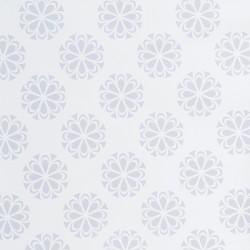 Koženka, Mandaly světle šedé na bílé, DSOFT 04, šíře 140 cm, 10 cm