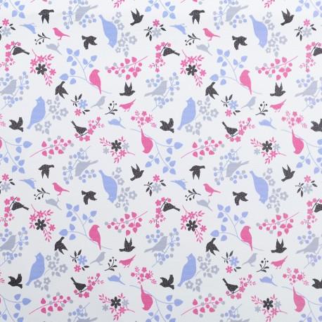 Koženka, Ptáčci fialoví a tm. růžoví na bílé, DSOFT 01
