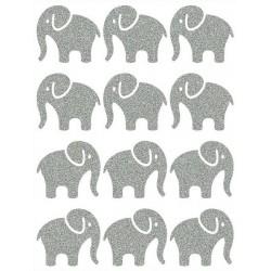 Reflexní nažehlovací potisk - Sloni malí (12 ks)