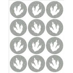 Reflexní nažehlovací potisk - Dinosauří stopy malé - výplň (12 ks)