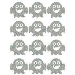 Reflexní nažehlovací potisk - Příšerky s jedním zubem malé (12 ks)