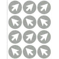 Reflexní nažehlovací potisk - Šipky malé (12 ks)