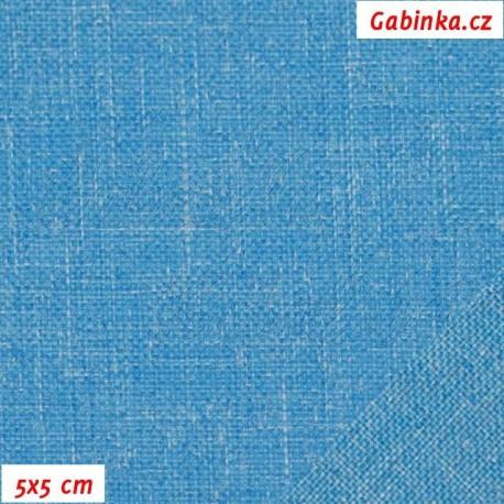 Kočárkovina DANTA 7 - modrý tyrkys, 5x5 cm