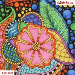 Plátno USA - QT Carnivale - 26369JX, šíře 110 cm, 10 cm
