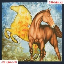 Plátno USA - QT Mustang Sunset - Panely mustangů, šíře 110 cm, panel 60 cm