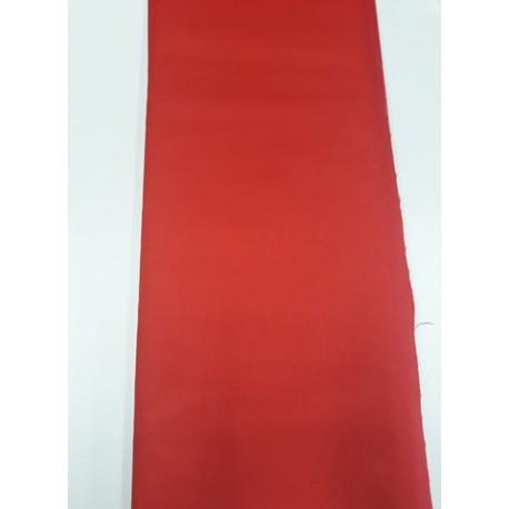 Šusťák, šusťákovina, nepromokavá látka se zátěrem, jasně červená, 10cm