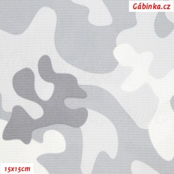 Kočárkovina Primax - Maskáč světle šedý, šíře 158 cm, 10 cm