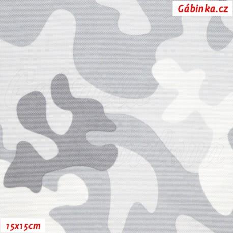 Šusťák - Primax Maskáč světle šedý, šíře 158 cm, 15x15 cm