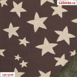 Warmkeeper - Hvězdy smetanové na hnědé, šíře 150 cm, 10 cm