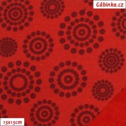 Warmkeeper - Kolečka z puntíků na červené, šíře 150 cm, 10 cm