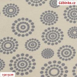 Warmkeeper - Kolečka z puntíků na béžové, šíře 150 cm, 10 cm