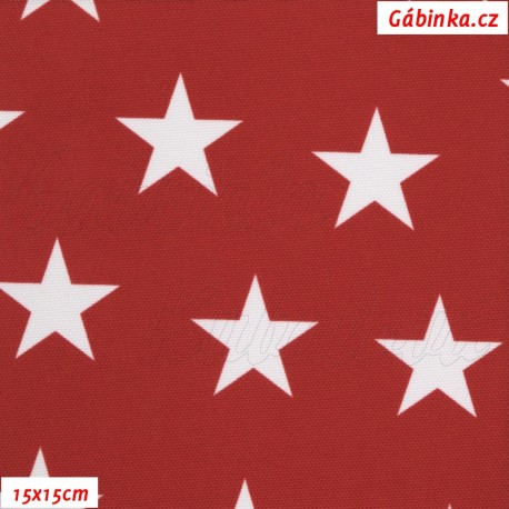 Kočárkovina Premium, Hvězdičky na červené 777, 15x15 cm