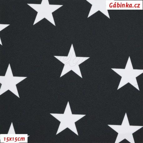 Kočárkovina Premium, Hvězdičky na černé 22, 15x15 cm