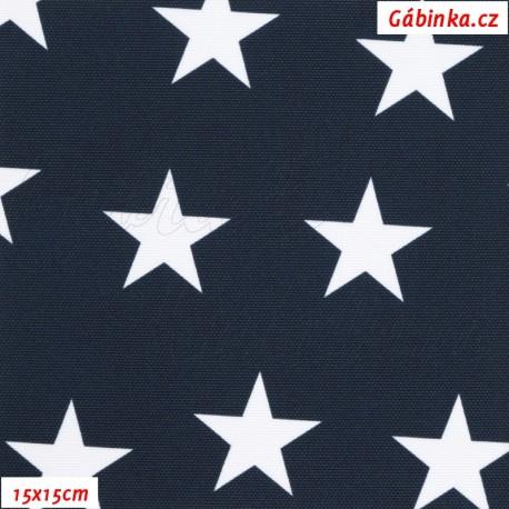 Kočárkovina Premium, Hvězdičky na tm. modré 19, 15x15 cm