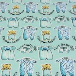 Dětské látky, flanel - Medvidci v pyžamu
