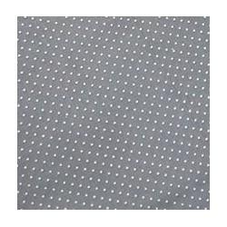 Plátno - Puntíky 1 mm bílé na šedé, R3, šíře 140 cm, 10 cm, ATEST 1