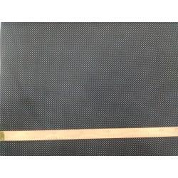 Plátno - Puntíky 1 mm bílé na černé, šíře 145 cm, 10 cm, ATEST 1