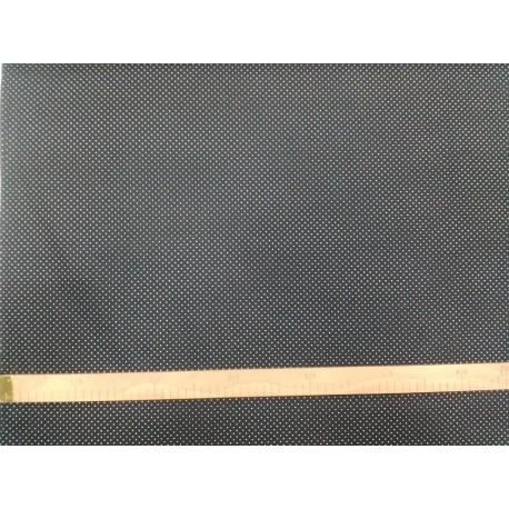 Plátno bavlna - Puntíky 1 mm bílé na černé, šíře 145 cm, 10 cm, ATEST 1