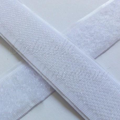 Samolepící suchý zip bílý šíře 2cm, 10cm