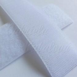 Suchý zip - bílý, šíře 2 cm, 10 cm