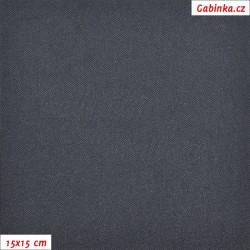Kočárkovina žakár - Riflovina bez potisku, 15x15 cm