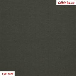 Látka, úplet, jednolíc, temně zelený b.2267, 15x15 cm