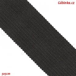 Lemovací proužek PES, černý, šíře 2,5 cm, 1 m