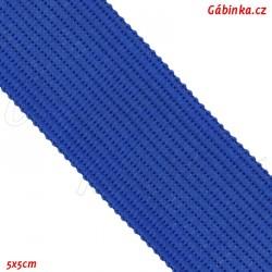 Lemovací proužek PES, královsky modrý, šíře 2,5 cm, 1 m
