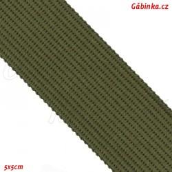 Lemovací proužek PES, olivový, šíře 2,5 cm, 1 m