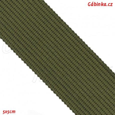 Lemovací proužek PES, olivový, 5x5 cm
