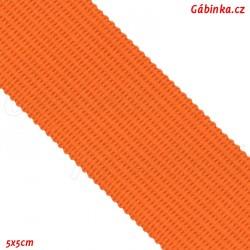 Lemovací proužek PES, oranžový, šíře 2,5 cm, 1m
