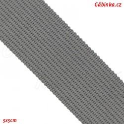 Lemovací proužek PES, středně šedý, šíře 2,5 cm, 1m