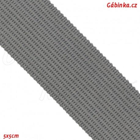 Lemovací proužek PES, středně šedý, 5x5 cm