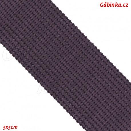 Lemovací proužek PES, temně fialový, 5x5 cm