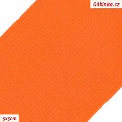 Pruženka, guma - hladká, reflexní oranžová, 5x5 cm