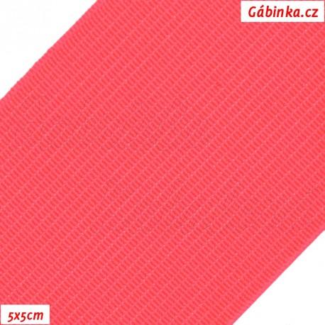 Pruženka, guma - hladká, reflexní růžová, 5x5 cm