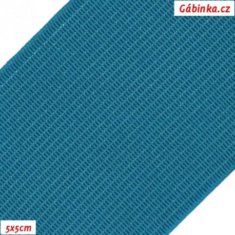 Pruženka, guma - hladká, tmavě tyrkysová, 5x5 cm