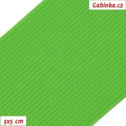Pruženka, guma - hladká, reflexní zelená, 5x5 cm