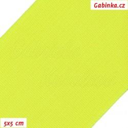 Pruženka, guma - hladká, reflexní žlutá, 5x5 cm