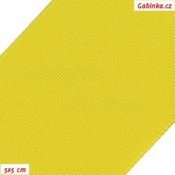 Pruženka, guma - hladká, žlutá, šíře 5 cm, 10 cm