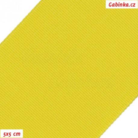 Pruženka, guma - hladká, žlutá, 5x5 cm