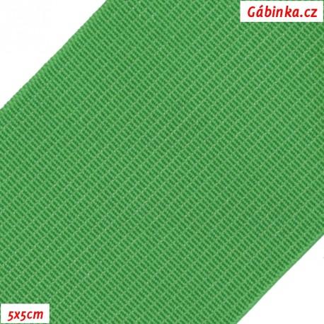 Pruženka, guma - hladká, zelená, 5x5 cm