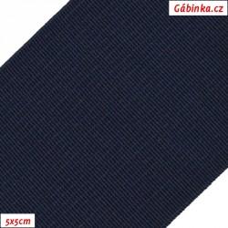 Pruženka, guma - hladká, tmavě modrá, 5x5 cm