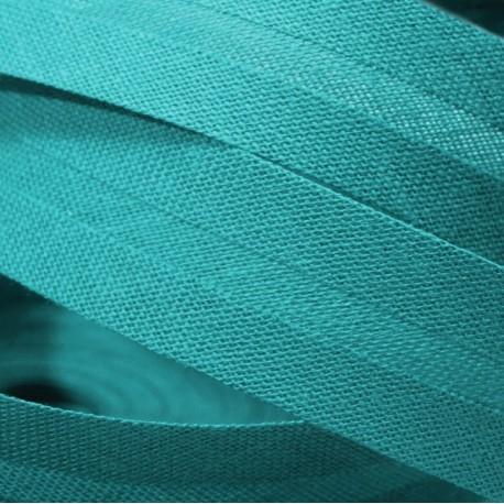 Šikmý proužek bavlněný, Tyrkys 596122, šíře 20 mm