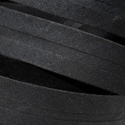 Šikmý proužek bavlněný - černý 999143, šíře 20mm, 1m