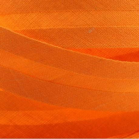 Šikmý proužek bavlněný - oranžový 140550, šíře 20mm