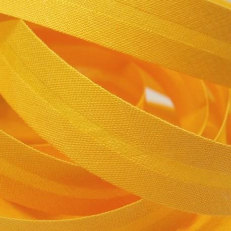 Šikmý proužek bavlněný - sytě žlutý 143662, šíře 20mm